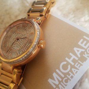 Michael Kors Pavé Gold-Tone Watch